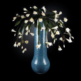 Aranjamente florale LUX - Aranjament floral mare DUBAI MOSAICO BISAZZA, albastru deschis 205cm