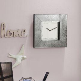 Ceas de perete decorativ AURORA 26x26cm argintiu