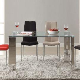 Mese dining - Masa dining din sticla securizata design modern Malibu 140x80cm