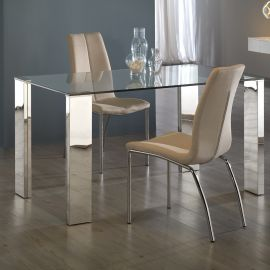 Mese dining - Masa dining din sticla securizata design modern Malibu 160x90cm