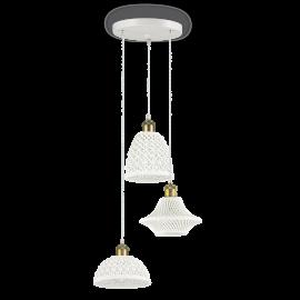 Lustra cu 3 pendule ceramice design modern LUGANO SP3