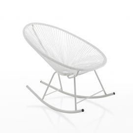 Fotolii - Scaun balansoar pentru interior si exterior NUMANA WHITE
