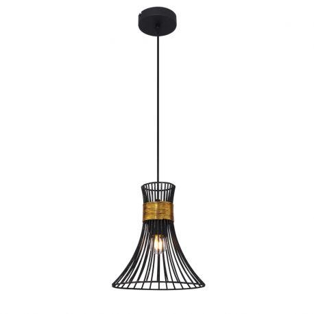 Pendule, Lustre suspendate - Pendul modern metalic negru-auriu diam. 22cm PURRA