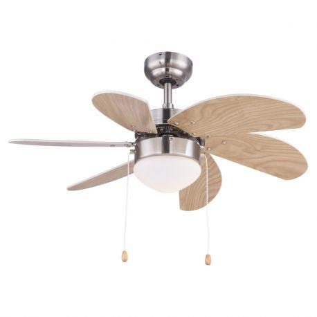 Lustre cu ventilator - Lustra cu Ventilator RIVALDO fag/beige