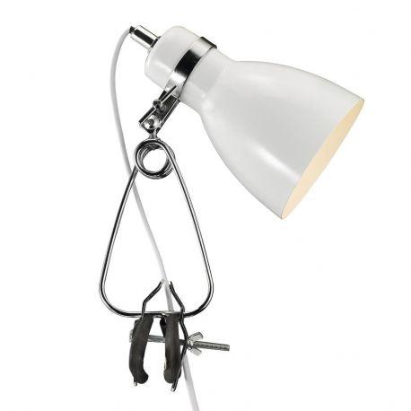 Lampi birou - Veioza, Lampa cu clip Cyclone alba