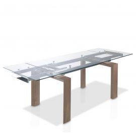 Mese extensibile - Masa dining extensibila design modern Walnut, 160-240x90cm