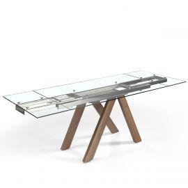 Mese extensibile - Masa dining extensibila design modern Walnut, 160-200-240x90cm