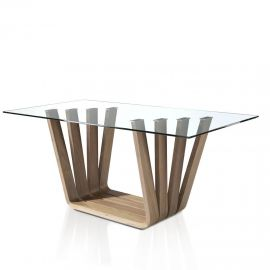 Mese dining - Masa dining design modern Walnut, 200x95cm