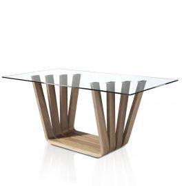 Mese dining - Masa dining design modern Walnut, 220x95cm