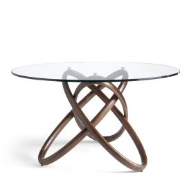 Mese dining - Masa dining design deosebit Walnut Wood, 150cm