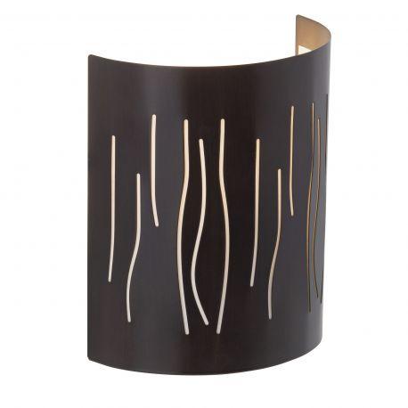 Aplice, corpuri de iluminat pentru pereti - Aplica decorativa lumina ambientala Kinley maro