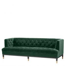 Canapea eleganta design LUX Castelle, catifea verde inchis