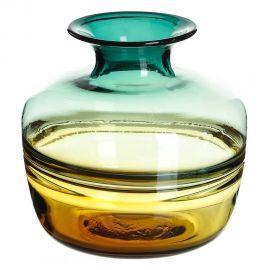 Vaze - Vas din sticla, Vaza eleganta din sticla VERDE-AMARILLO