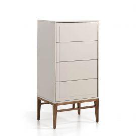 Reduceri - Dulapior elegant cu 4 sertare, design modern Platin