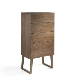 Dulapuri - Dulapior elegant cu 4 sertare, design modern Walnut