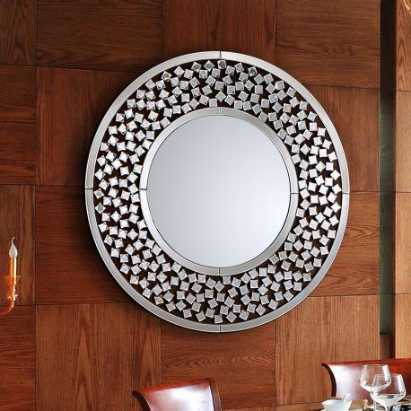 Oglinzi - Oglinda decorativa rotunda Ø100cm Martina