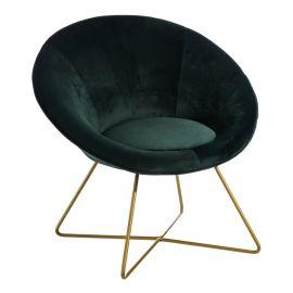 Fotolii - Fotoliu confortabil design modern Anna, catifea verde inchis