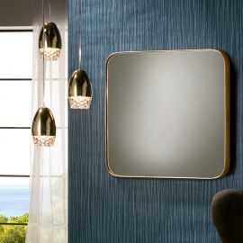 Oglinzi - Oglinda decorativa patrata 51x51cm Orio