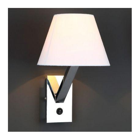 Aplice, corpuri de iluminat pentru pereti - Aplica de perete Orlando crom/ alb