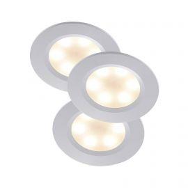 Set de 3 spoturi LED incastrabile design slim Rogue