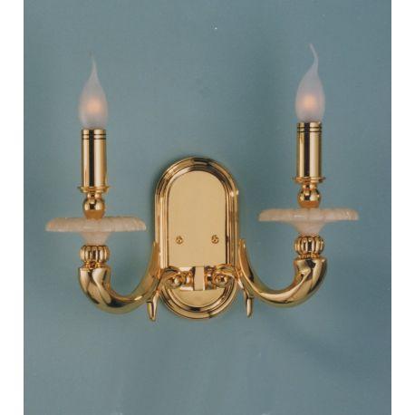 Aplice, corpuri de iluminat pentru pereti - Aplica de perete LUX fabricata manual Gold