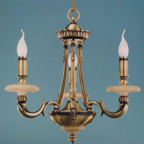 Candelabre, Lustre - Candelabru LUX fabricat manual 3 brate Gold