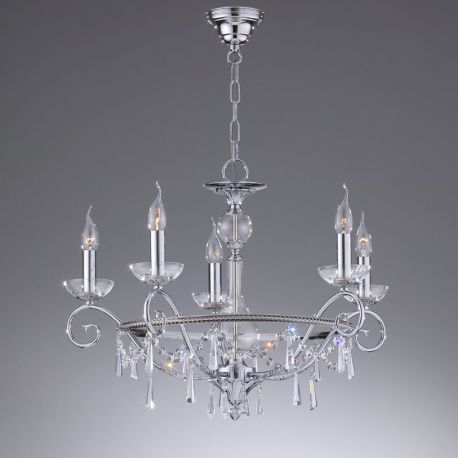Candelabre, Lustre - Candelabru 5 brate LUX, cristal Asfour, Irina
