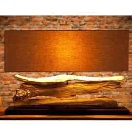 Veioze - Lampa design rustic Riverine bej