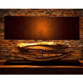 Veioze - Lampa design rustic Riverine negru
