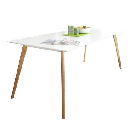 Mese dining - Masa Scandinavia 160cm alb