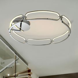 Lustre aplicate - Lustra LED aplicata design ultra-modern Ø80cm Colette crom