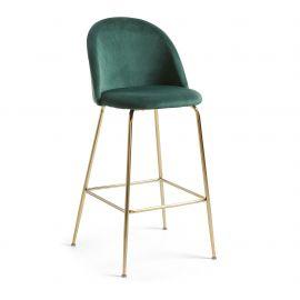 Scaune Bar - Scaun de bar elegant MYSTERE, auriu/ verde inchis
