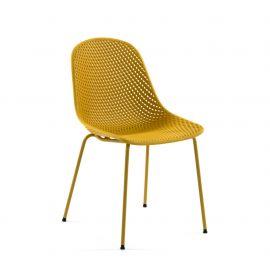 Scaune - Scaun design modern QUINBY galben