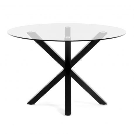 Mese dining - Masa Dining ARYA diam.119cm negru