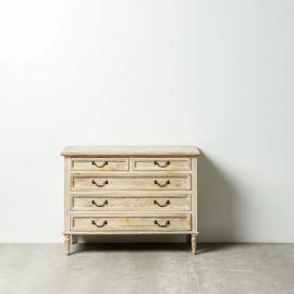 Comoda cu sertare design vintage NATURAL