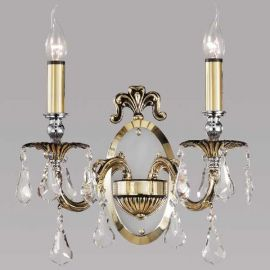 Aplice, corpuri de iluminat pentru pereti - Aplica de perete LUX, cristal Asfour, Sandra