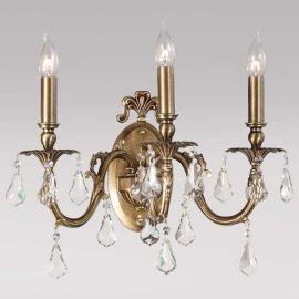 Aplice, corpuri de iluminat pentru pereti - Aplica LUX 3 brate, cristal Asfour, Sandra