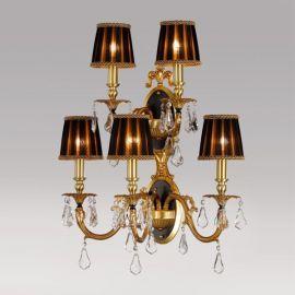 Aplice, corpuri de iluminat pentru pereti - Aplica LUX 5 brate, cristal Asfour, Sandra