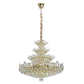 Corpuri de iluminat Lustre pentru casa scarii - Lustra XXL suspendata cristal design elegant Ø80cm LAURA