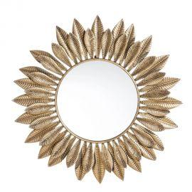 Oglinda decorativa Frunze aurii, 80,5cm