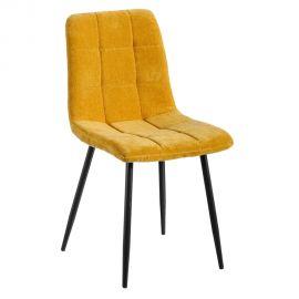 Seturi scaune, HoReCa - Set de 2 scaune moderne Jasmyna, galben