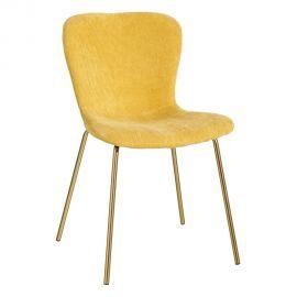 Set de 2 scaune design modern Janna, galben