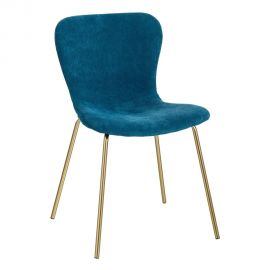 Set de 2 scaune design modern Janna, albastru