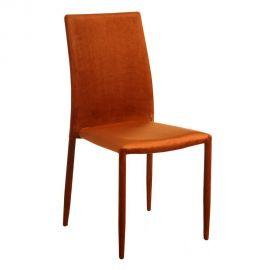 Set de 2 scaune Anteo, catifea portocalie