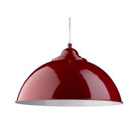 Pendule, Lustre suspendate - Pendul metalic design modern Fusion rosu