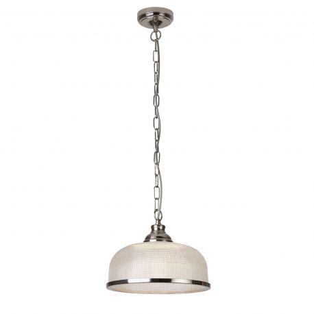 Pendule, Lustre suspendate - Pendul design clasic Bistro II argintiu satin