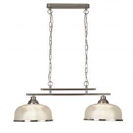 Pendule, Lustre suspendate - Lustra suspendata design clasic Bistro II 2L argintiu satin