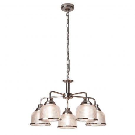 Pendule, Lustre suspendate - Lustra suspendata design clasic Bistro II 5L argintiu satin