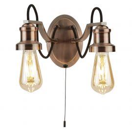 Aplica perete vintage stil industrial Olivia cupru antique