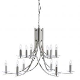 Corpuri de iluminat Lustre pentru casa scarii - Lustra moderna casa scarii design argintiu Ascona 12L